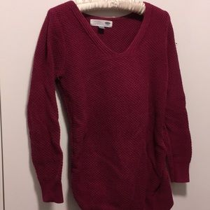 Maroon Maternity Sweater